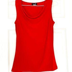 🌸 3/$25 Bellina Red Sleeveless Top size Medium